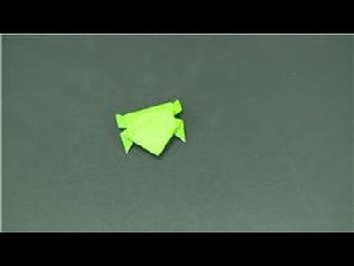 Origami & Paper Crafts : How to Make a Paper Frog That Can Leap