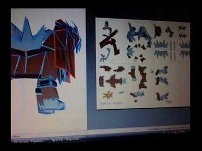 Papercraft entei