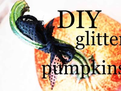 Pumpkin Decorating Ideas: DIY Halloween Glitter Pumpkins