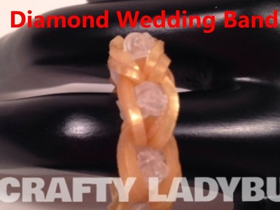 Rainbow Loom DIAMOND WEDDING BAND CHARM How to Make Tutorial Crafty Ladybug