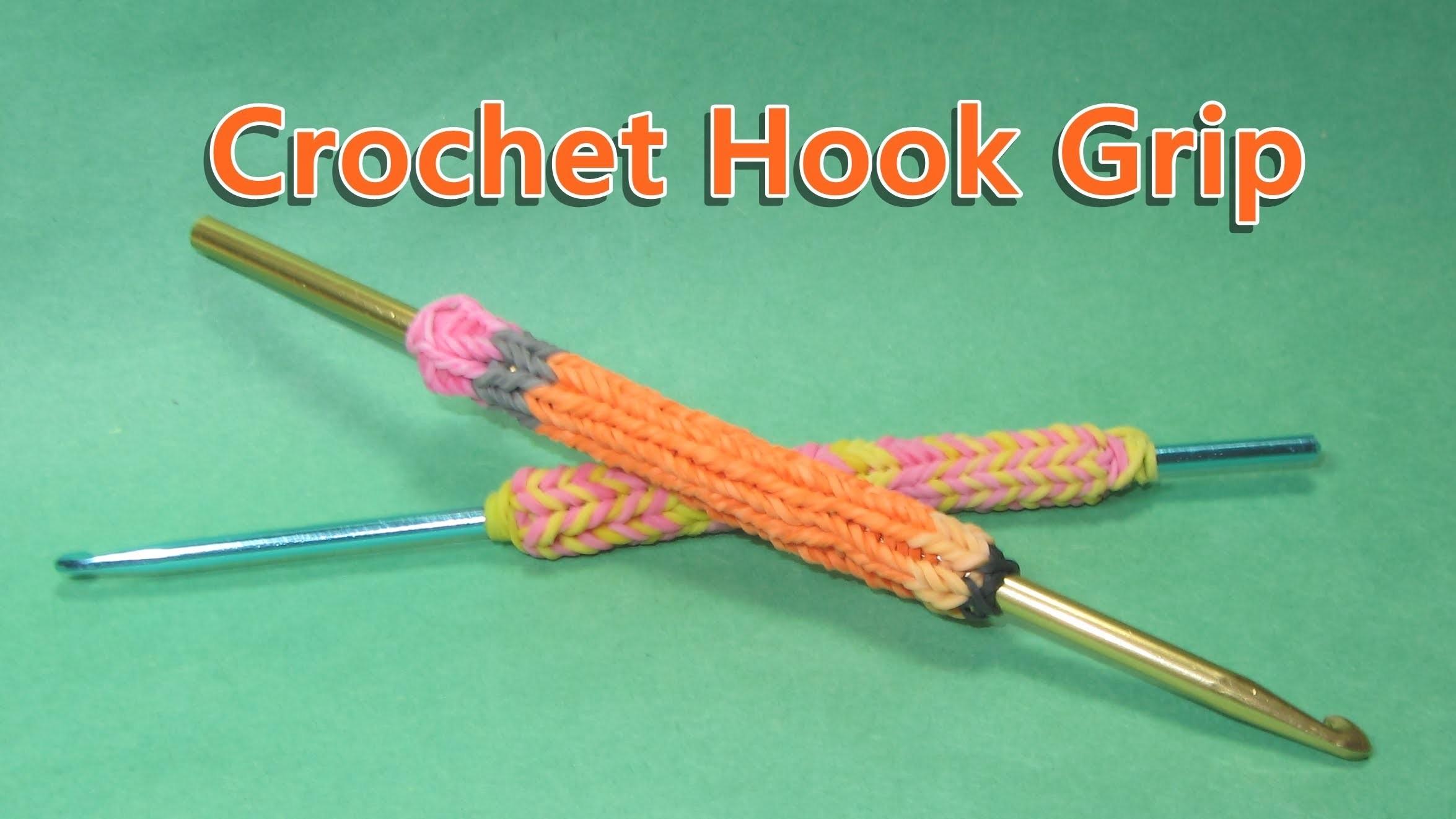 Rainbow Loom Hook Grip Tutorial (looks like a Pencil Charm) Tutorial. Design (DIY Mommy)
