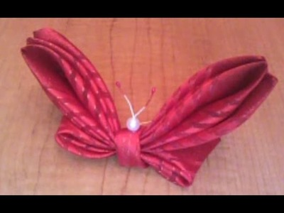 Ribbon Butterfly - How To Make A Ribbon Butterfly Tutorial, DIY