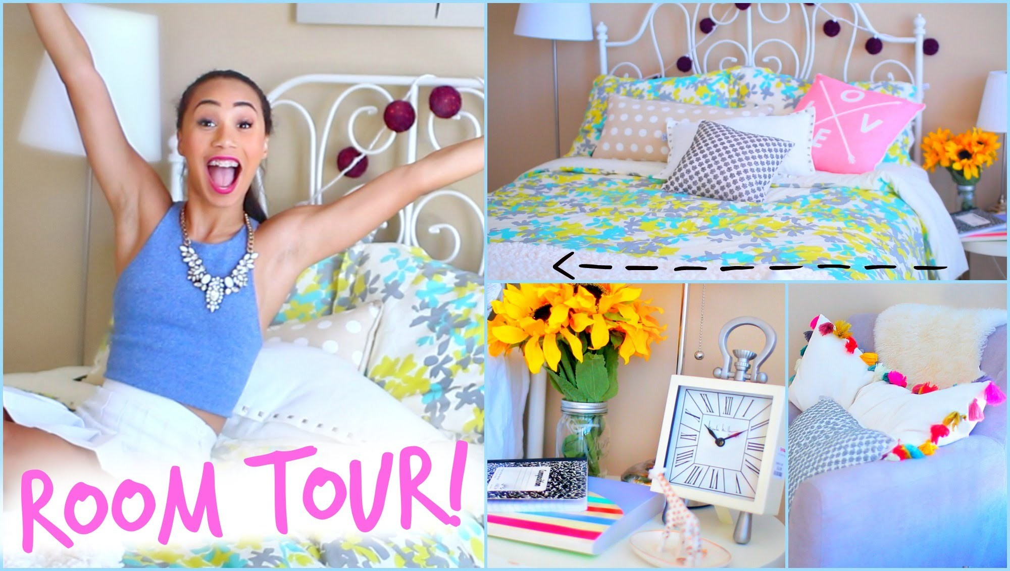 Room Tour 2014! ✿ Back To School Room Decor | Mylifeaseva