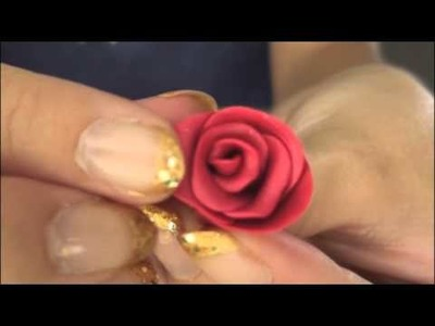 ROSE - Polymer Clay Charm - How To - SoCraftastic