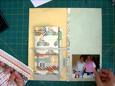 Scrapbook Process - Adding Travel Journal to a Layout
