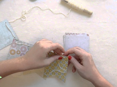 SCRAPBOOK TUTORIAL: HOW TO MAKE A GARLAND IN 5 EASY STEPS