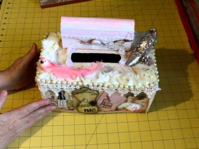 Scrapbookgiggles Kleenex Box Cover for my Niece Very Shabby Chic