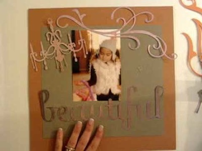 Scrapbooking Layout with the Cricut