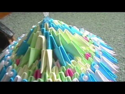 (smaller) 3D origami jewellery box designs. colours