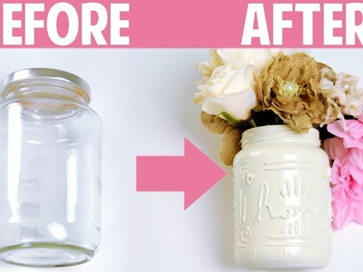 Spring Room Decor: DIY Jar Crafts - What To Do With Old Jars | DecorateYou