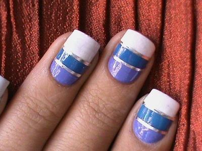 Striping tape nail art tutorial How to do nail striping stripe nails tape tutorial DIY cheerleaders