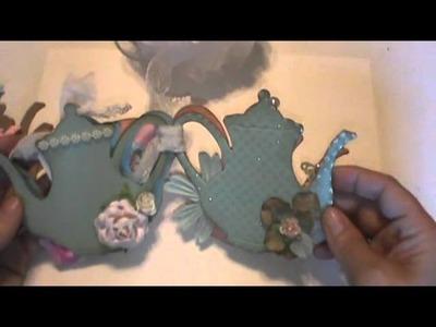 Sweet Shabby chic chipboard mini chipboard scrapbook album