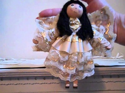 The Making of Cute Adorable Angel Clothes Pin Dolls!