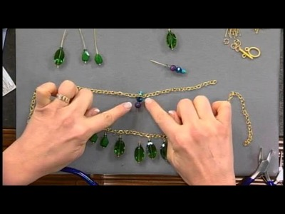 1807-2 Molly Schaller builds a bib necklace using simple techniques on Beads, Baubles & Jewels