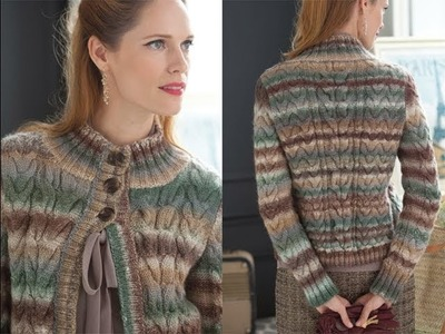 #22 All-Over Cable Cardigan, Vogue Knitting Holiday 2013