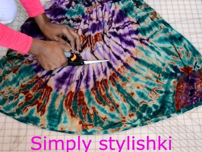 """271. DIY: How to make an """"Infinity Scarf"""" out of a dress"""