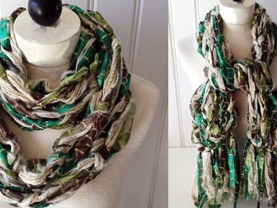 Arm Knitted Scarf Starbella Luxe & Starry Night - Left Handed