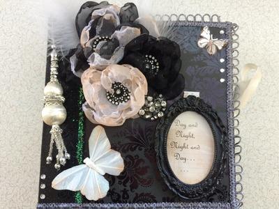Black and White 1940s Mini Scrapbook Album - DCWV Bella Armoire