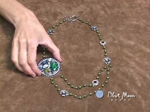 "Blue Moon Beads ""Learn How to Make a Vintage-inspired Necklace - Beading. Jewelry Video"