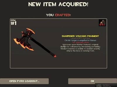 Crafting the Rift weapons in TF2 on March 1st 2011 TF2 patch