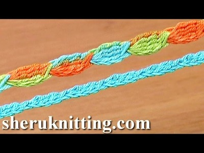 Crochet Cord Tutorial 44 5-Treble Crochet Cluster Stitch