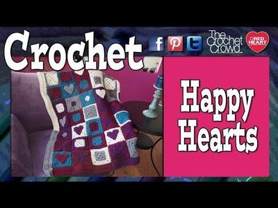 Crochet Happy Hearts Afghan Tutorial