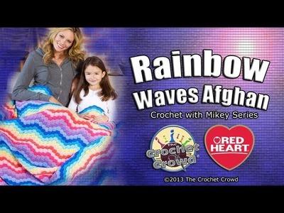 Crochet Rainbow Waves Afghan Tutorial