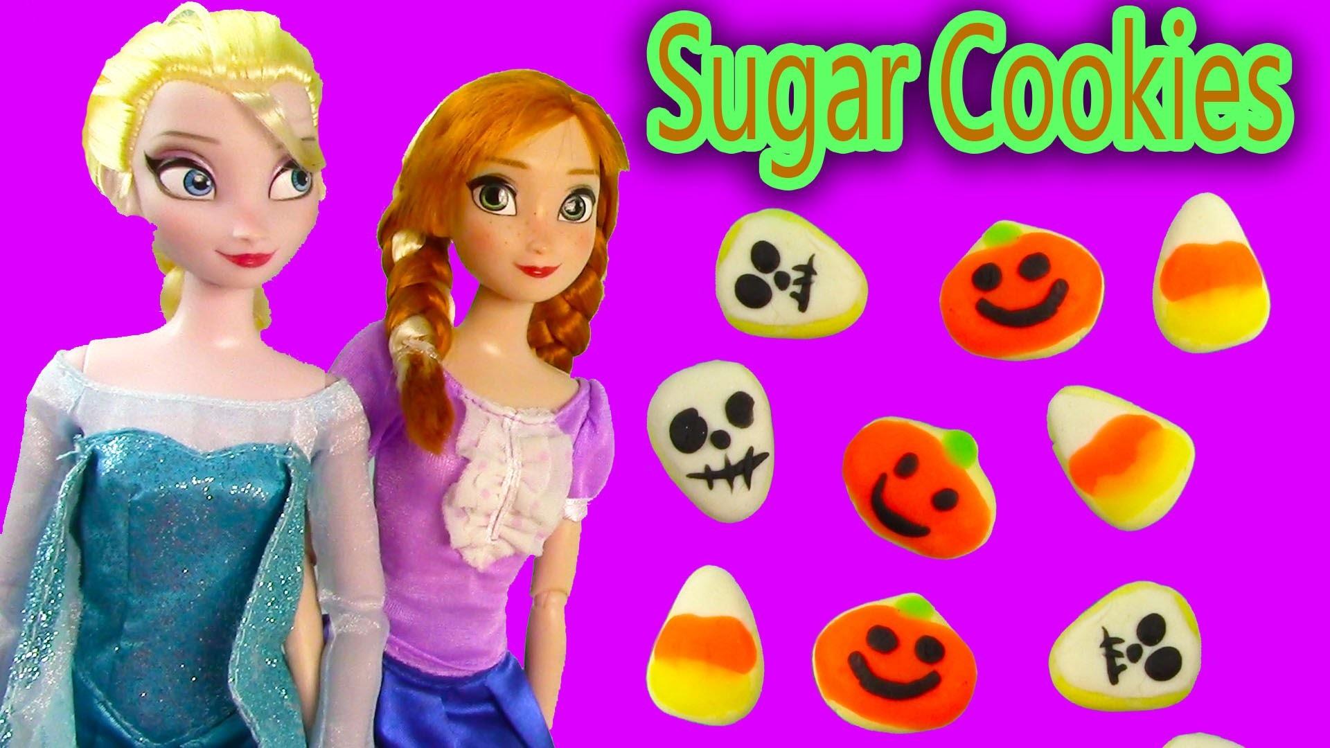 Disney Frozen Play-doh Halloween Sugar Cookies Queen Elsa Princess Anna Doll Food Craft