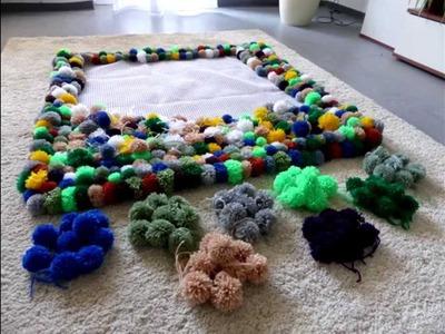 ♥DIY♥ Bobble Carpet Part 2-Bommel Teppich Teil 2 - Pompon Borla Tapete
