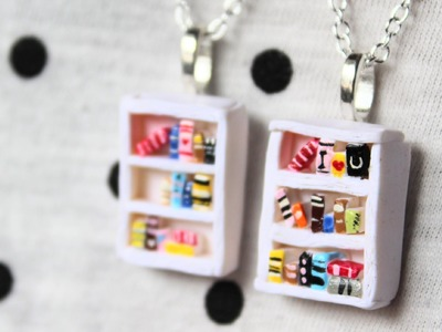 DIY: Bookshelf Necklace Polymer Clay Tutorial #EstherDay