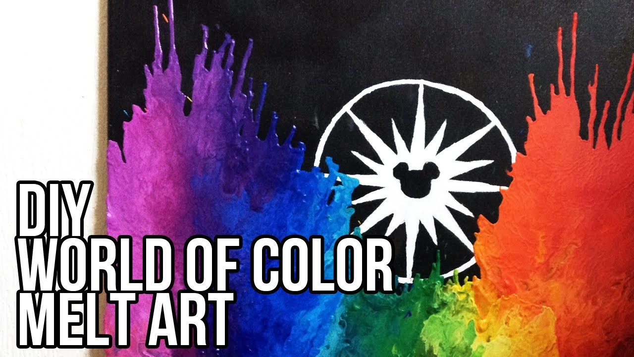 DIY Disney's World of Color melt art