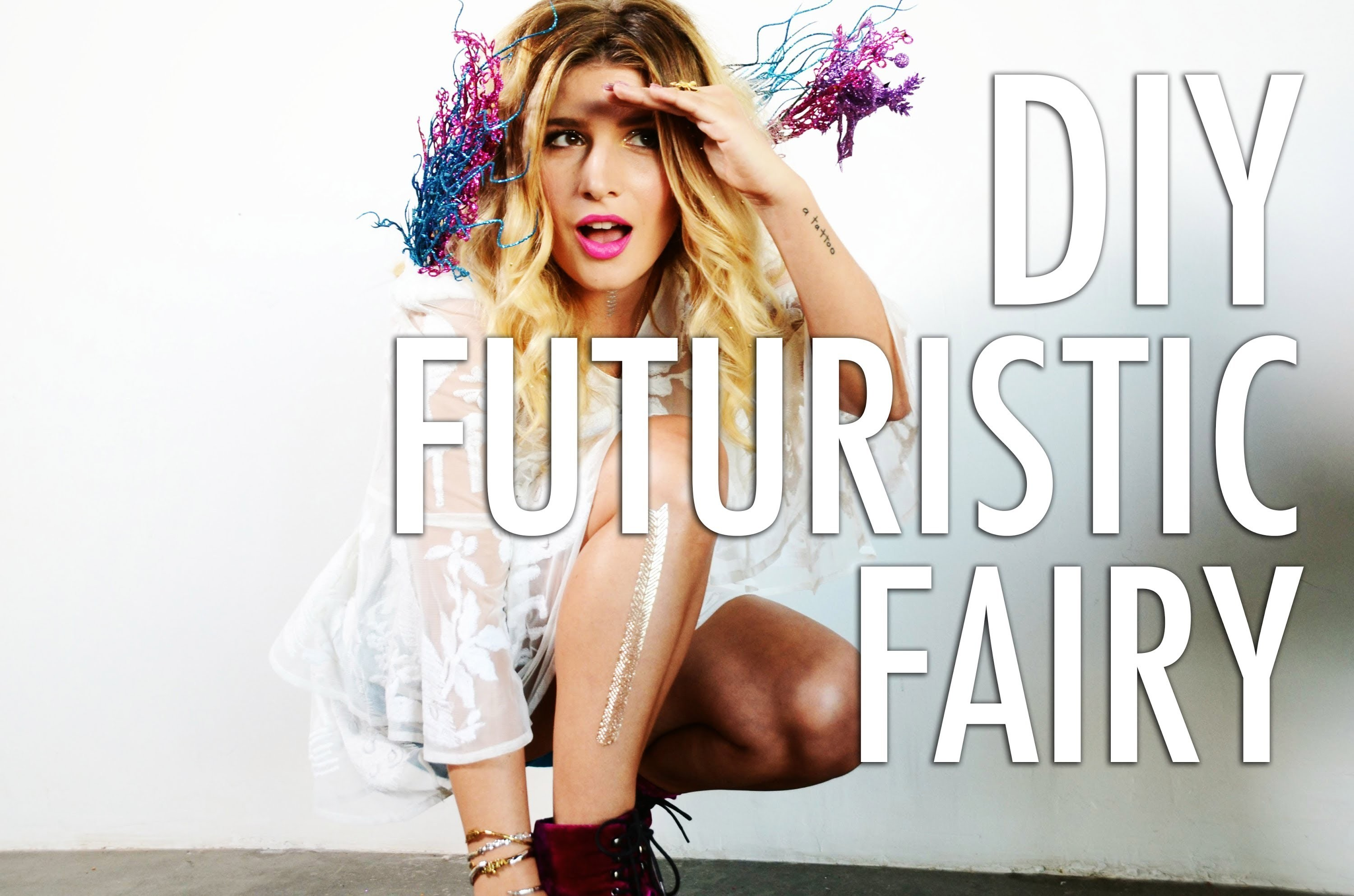 DIY Futuristic Fairy Costume
