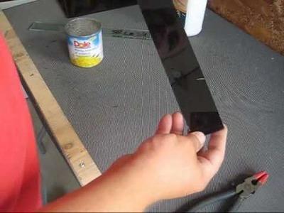 DIY Glass Tile Back Spash