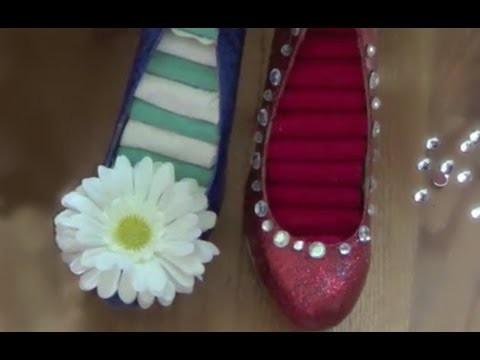 DIY Glitter Shoe Ring Holder -HowToByJordan