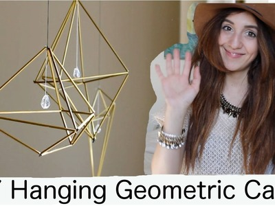 DIY Hanging Geometric Cage (or Hanging Air Plant Holder)