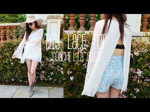 DIY Lace Top for Coachella 2013