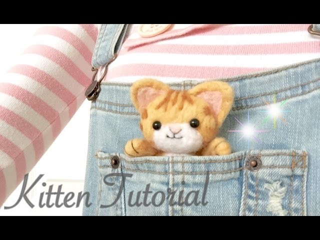 DIY Needle Felt Kitten & GIVEAWAY [CLOSED]