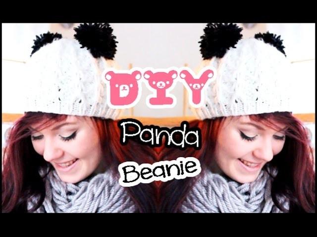 DIY Panda Beanie