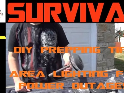 DIY Prepping Tips: Cheap Area Lighting For Power Outages