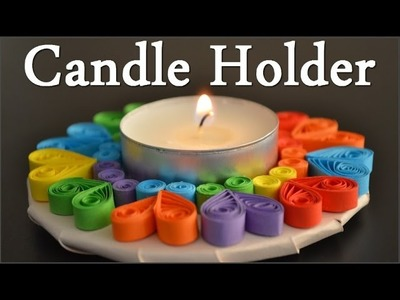 DIY Quilling Candle Holder - Tutorial 1 ( Portacandele ) - Quilling for beginners