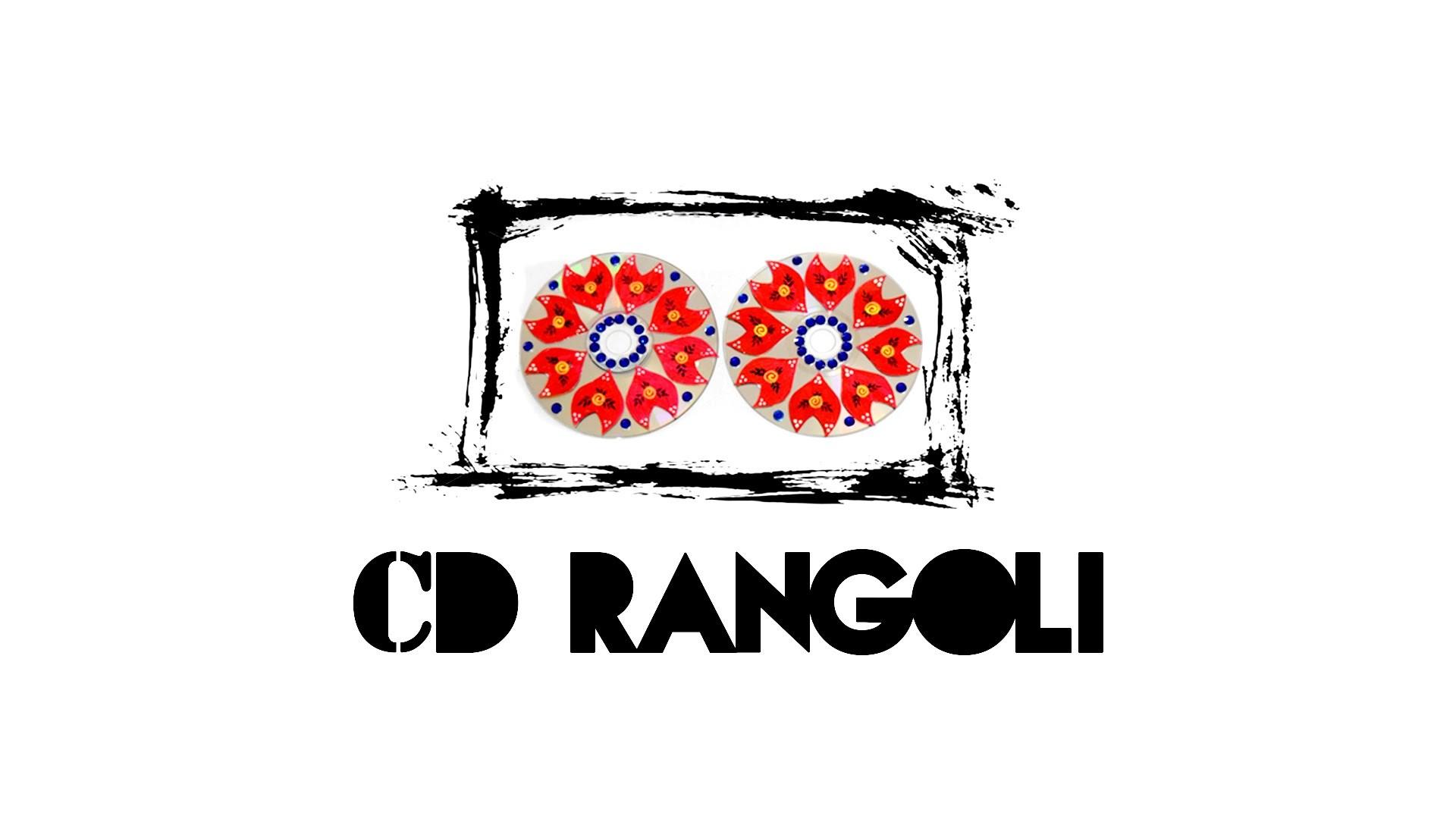 DIY : Rangoli Designs on CD | Best Rangoli Designs | Rangoli Tutorial