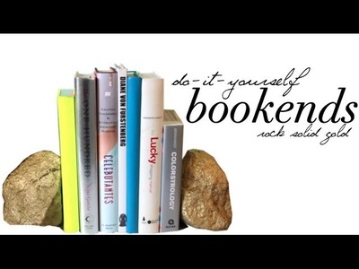 DIY: Rock Solid Gold Bookends