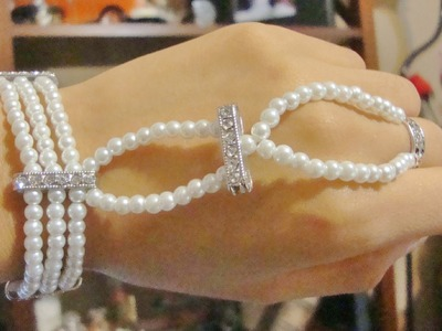 DIY The Great Gatsby Inspired Ring Wrist Bracelet for Prom Wedding (Cheap)