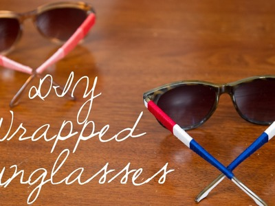 DIY Wrapped Sunglasses - Recreate this at home with a DIY Kit