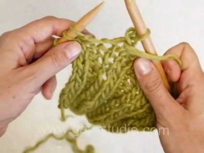 DROPS Knitting Tutorial: How to bind off in rib