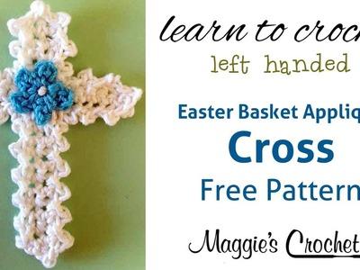 Easter Cross Applique Free Crochet Pattern - Left Handed