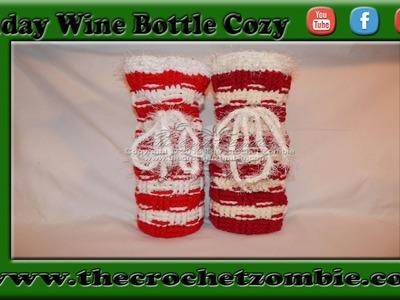 Holiday Wine Bottle Cozy Pattern from 24 Carat Crochet