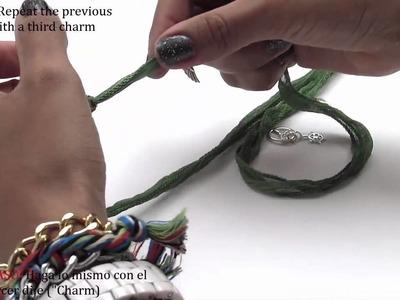 How to make a charmed wrap around bracelet