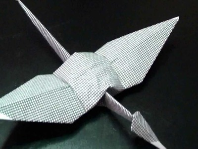 How To Make A Origami Crane With Papper AND Money