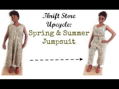 How To make a Thrift Store Upcycle: Spring & Summer Jumpsuit DIY